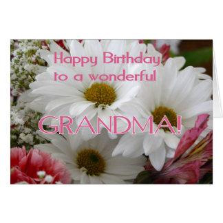 Cartão Feliz aniversario a uma avó maravilhosa! -