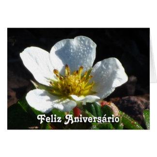 Cartão - Feliz Aniversário - BLANCA de Flor