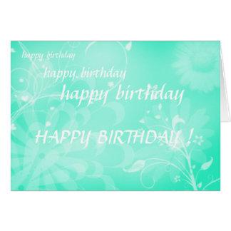 Cartão feliz aniversario de feliz aniversario