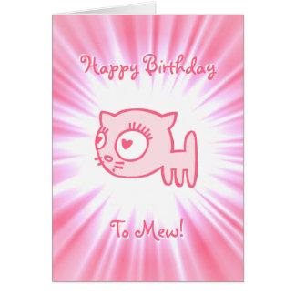 Cartão feliz aniversario do Gato-um-porteiro a mew!