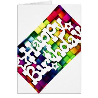 Cartão Feliz Aniversário - Happy Birthday
