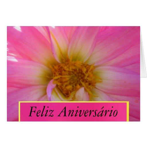 Cartão - Feliz Aniversário - La Dalia Rosada