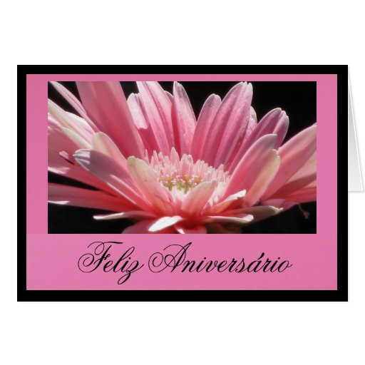 Cartão - Feliz Aniversário - La Flor Margarita Ros
