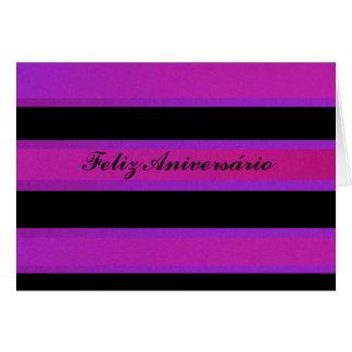 Cartão - Feliz Aniversário - Rosa-negra