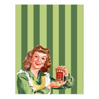 Cartão feliz da esposa da casa
