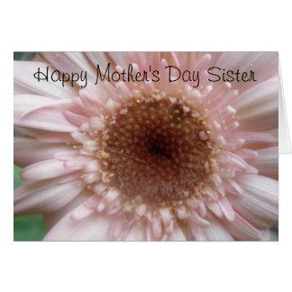 Cartão feliz da irmã do dia das mães