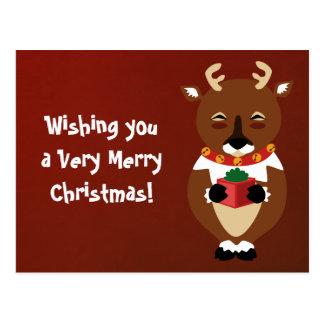Cartão feliz da rena