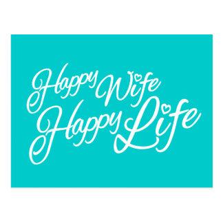 Cartão feliz das citações da vida da esposa feliz