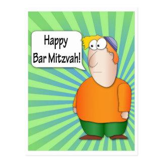Cartão feliz de Mitzvah do bar Cartão Postal