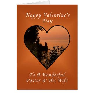Cartão Feliz dia dos namorados, pastor e esposa, coração
