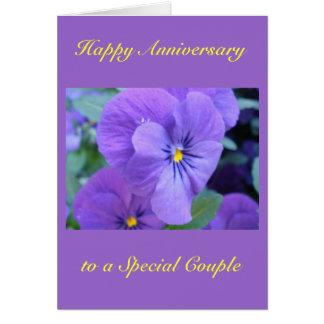 Cartão feliz do aniversário de casamento