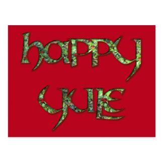 Cartão feliz do azevinho de Yule