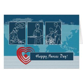 Cartão feliz do costume do dia das enfermeiras