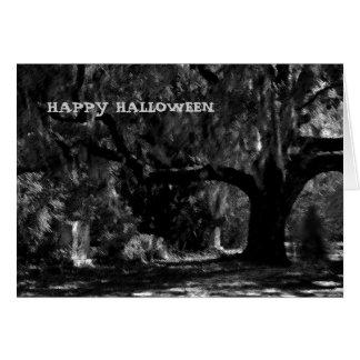 Cartão feliz do Dia das Bruxas do fantasma