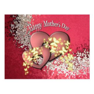 Cartão feliz do dia das mães cartoes postais