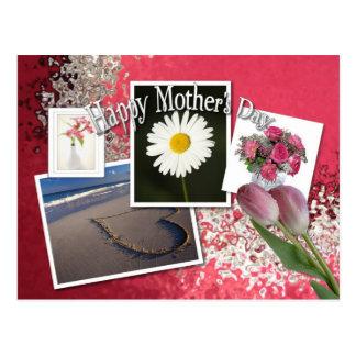 Cartão feliz do dia das mães cartões postais