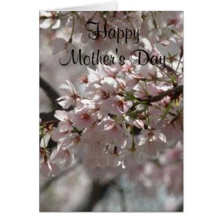 Cartão feliz do dia das mães do interior do vazio