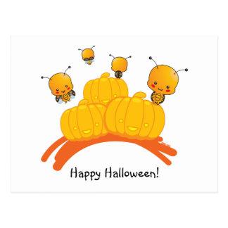 Cartão feliz do joaninha do Dia das Bruxas Cartao Postal