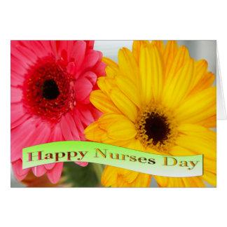 Cartão feliz dos estrados do dia das enfermeiras