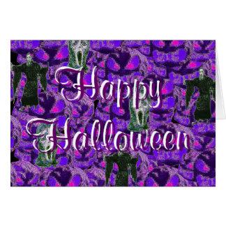 Cartão feliz dos ghouls do Dia das Bruxas