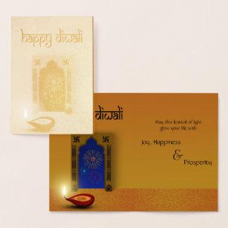 Cartão feliz festivo da folha dos