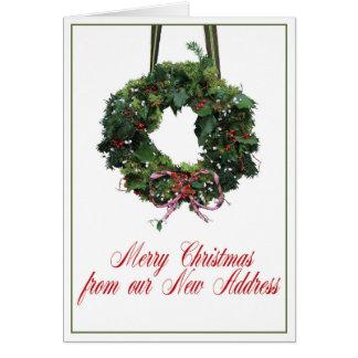 Cartão Feliz Natal da casa nova