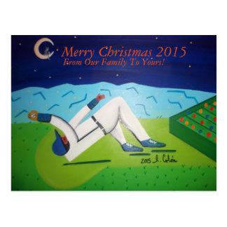 """Cartão """"Feliz Natal """" do basebol Cartão Postal"""
