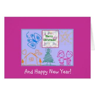Cartão Feliz Natal e feliz ano novo!