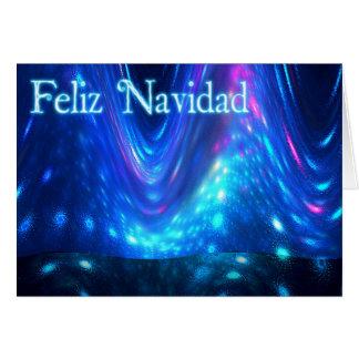 Cartão Feliz Navidad - Qaanaaq - aurora boreal