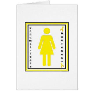 Cartão fêmea da consciência da endometriose