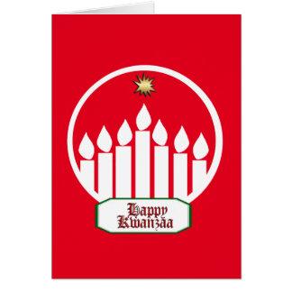 Cartão Feriado brilhante Notecards de um Kwanzaa de sete