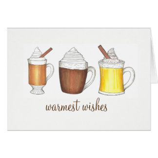 Cartão Feriado de inverno quente da gemada do rum do