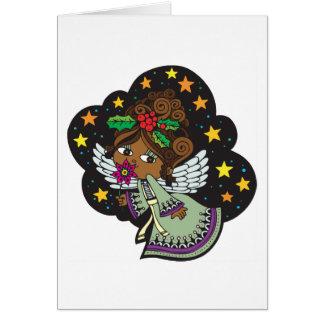 Cartão Feriado doce Notecards do anjo de Kwanzaa