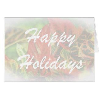 Cartão Feriado feliz, vazio para dentro
