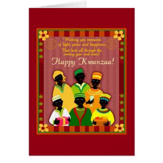 Cartão Feriado Notecards de Kwanzaa da paz e da