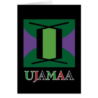 Cartão Feriado Notecards de UJAMAA Kwanzaa