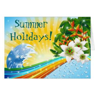 Cartão Férias de verão exóticas tropicais