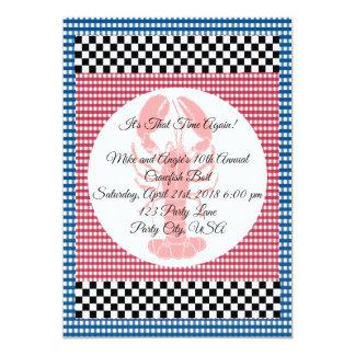 Cartão Fervura azul e vermelha do tabuleiro de damas do