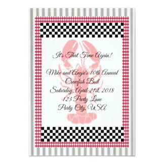 Cartão Fervura de tiquetaque dos lagostins do guingão do