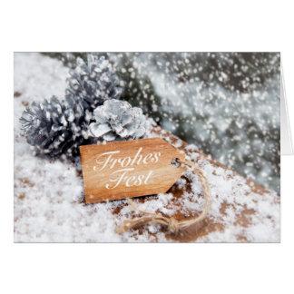 """Cartão """"Fest Alegre"""" na neve"""