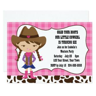 Cartão Festa de aniversário da vaqueira