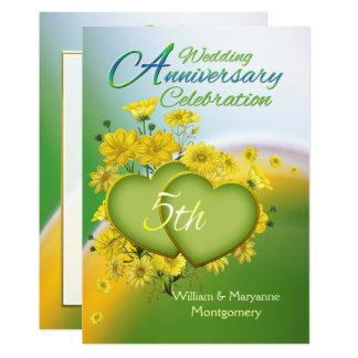 Cartão Festa de aniversário do casamento do amor da luz