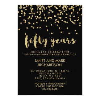 Cartão Festa de aniversário do casamento dourado dos