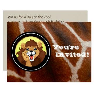 Cartão Festa de aniversário do jardim zoológico do safari
