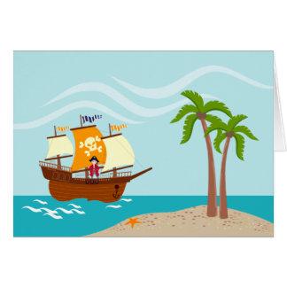 Cartão Festa de aniversário do miúdo do pirata