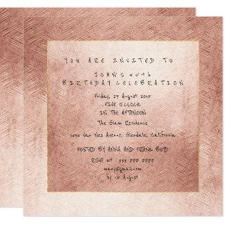 Cartão Festa de aniversário do ouro do pó do ouro do rosa