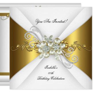 Cartão Festa de aniversário elegante 2 do diamante da