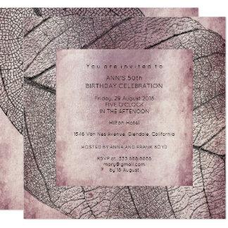 Cartão Festa de aniversário suja da folha do preto do