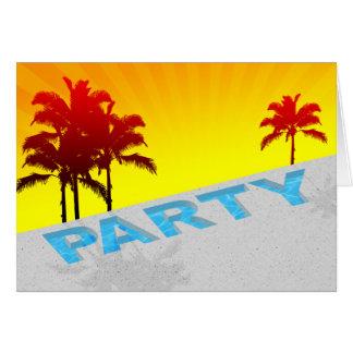 Cartão festa na piscina