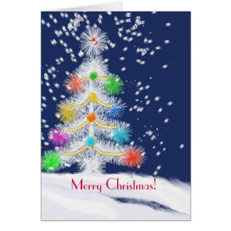 Cartão festivo da árvore